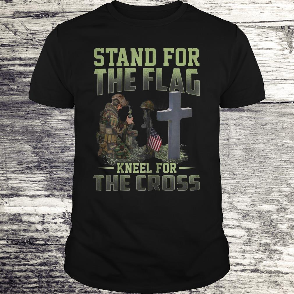 Stand For The Flag Kneel For The Cross Shirt Premium Tee