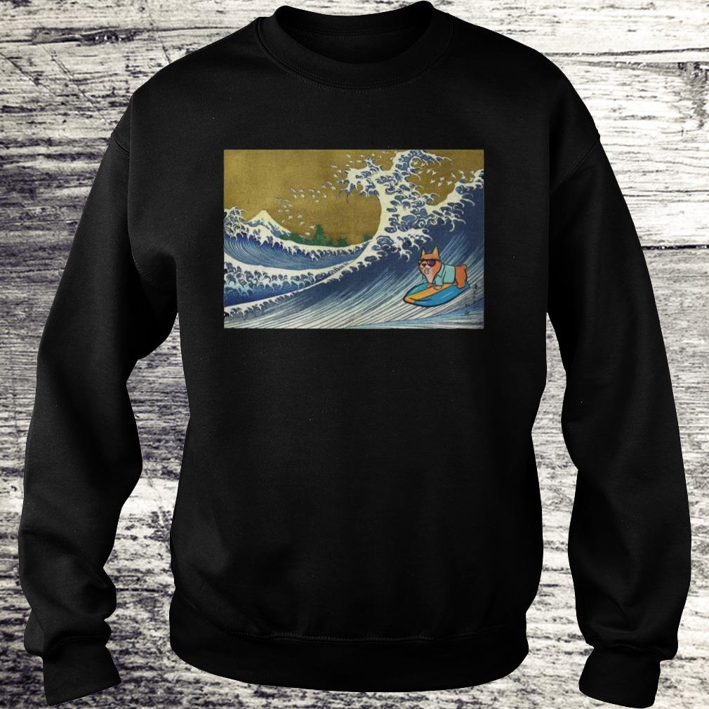 Surfing Corgi On A Wave Shirt Sweatshirt Unisex