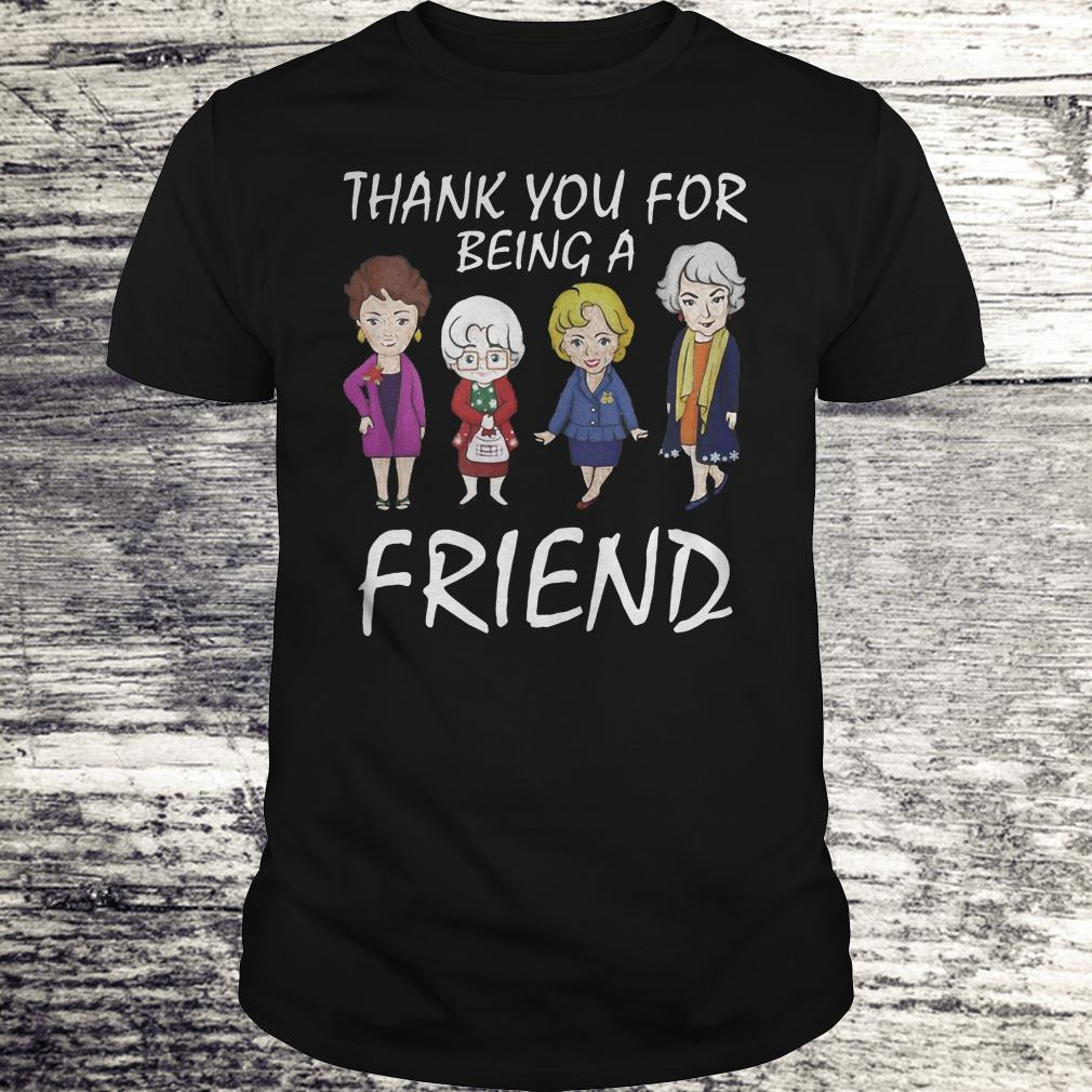 Thank You For Being A Golden Friend Girl Christmas Shirt Classic Guys Unisex Tee.jpg