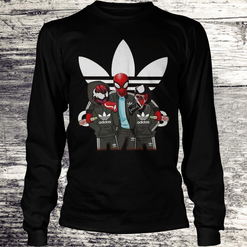 Venom And Spiderman Adida Shirt Longsleeve Tee Unisex