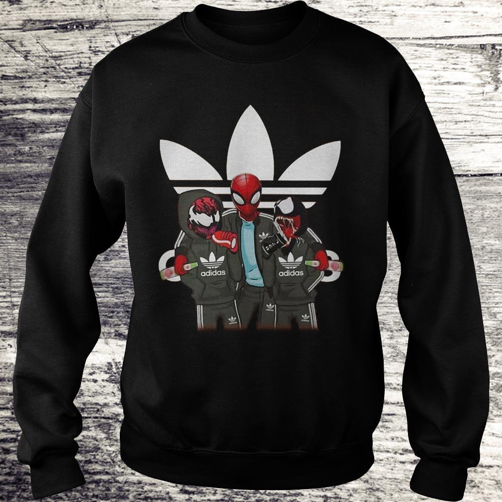 Venom And Spiderman Adida Shirt Sweatshirt Unisex