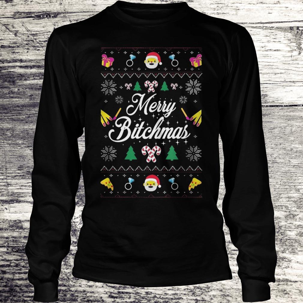 Best Price Merry Bitchmas Sweater shirt Longsleeve Tee Unisex