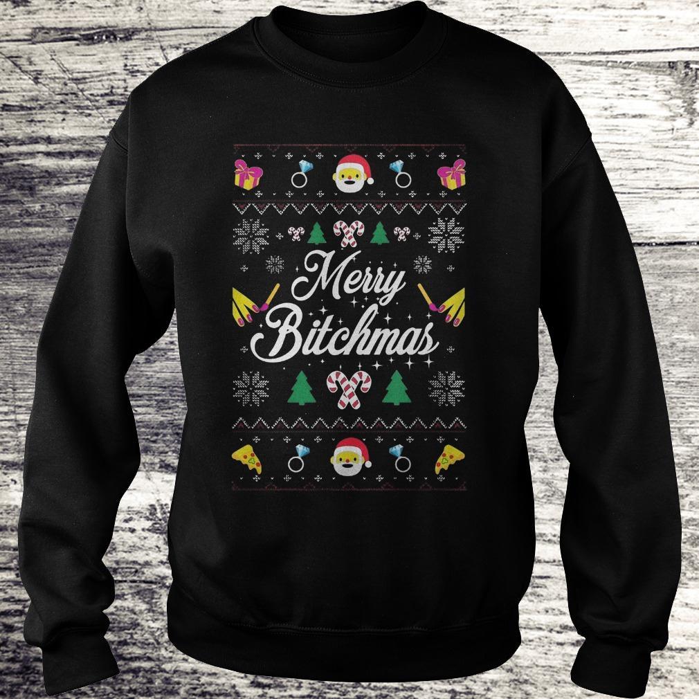 Best Price Merry Bitchmas Sweater shirt Sweatshirt Unisex