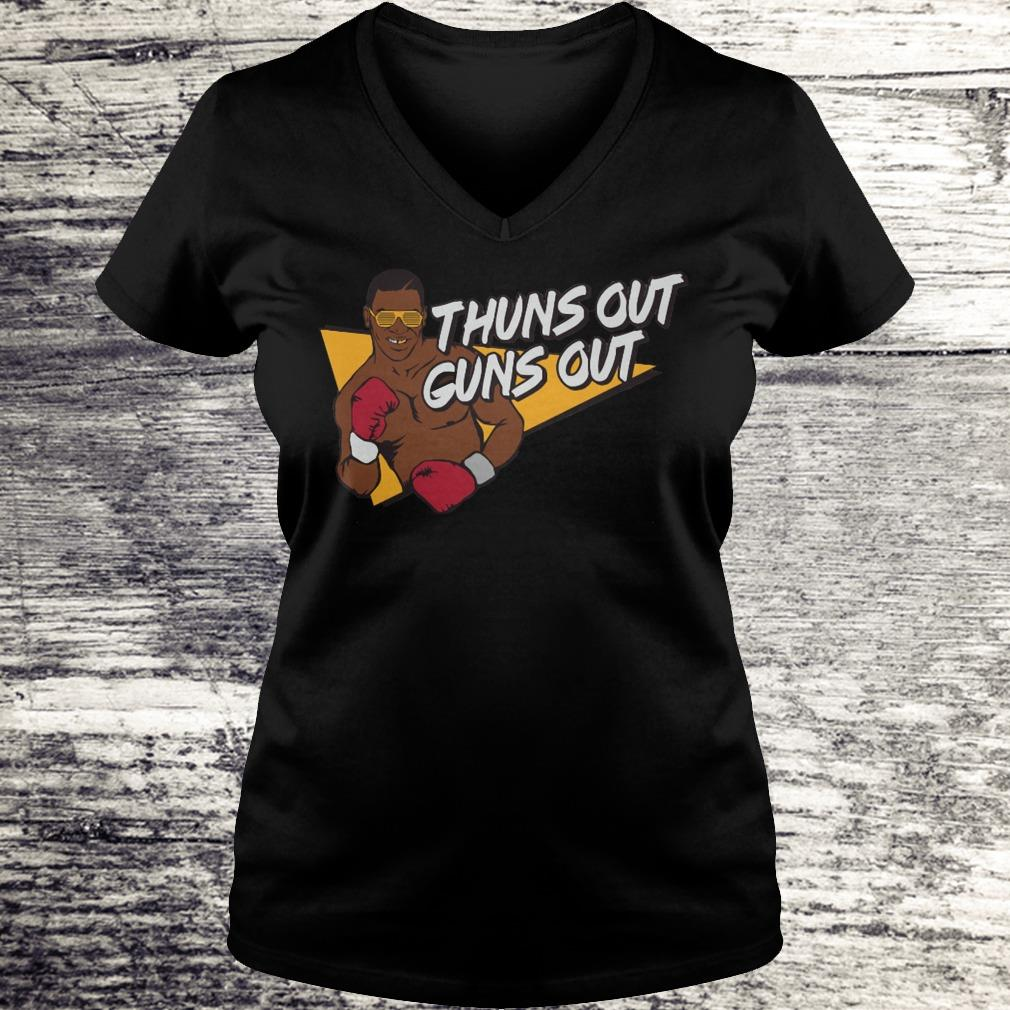 Best price Mr. Tyson thuns out guns out shirt Ladies V-Neck