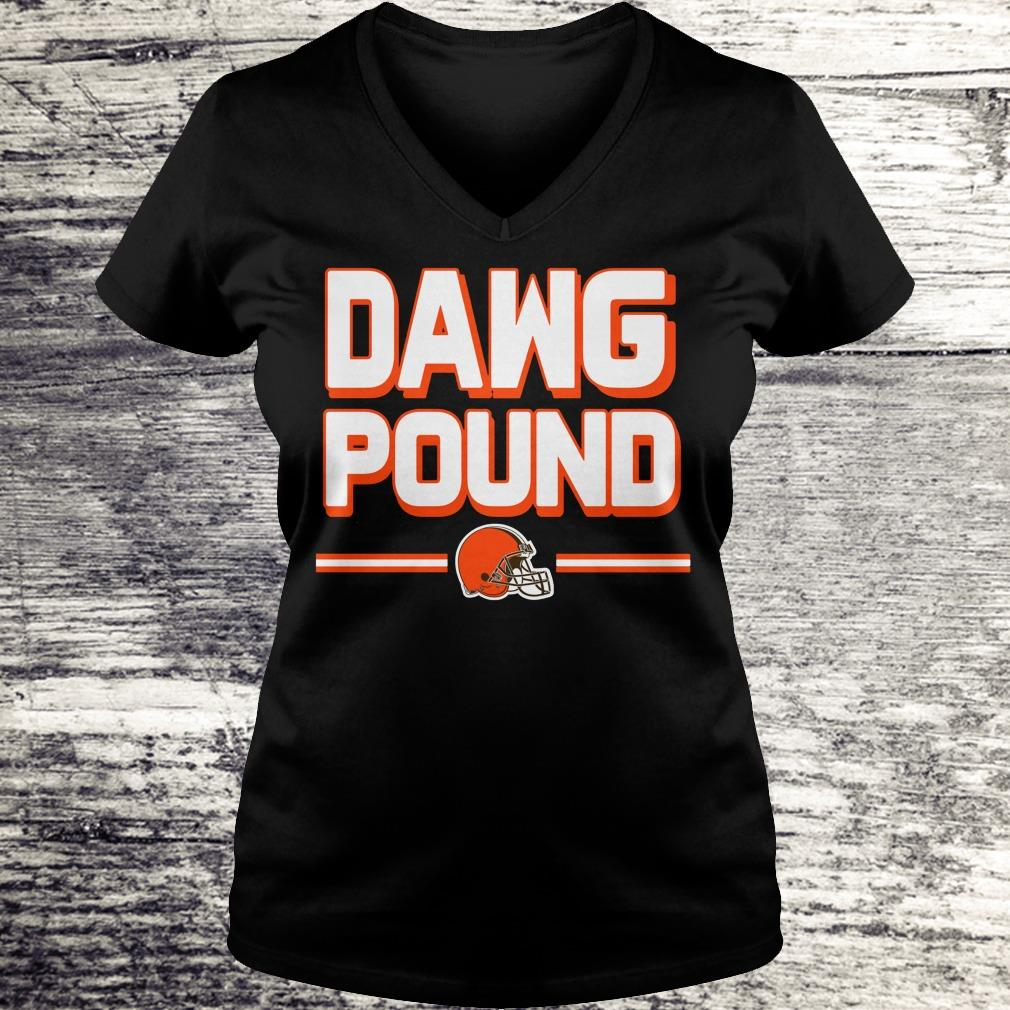 Cute l Cleveland Dawg Pound shirt Ladies V-Neck