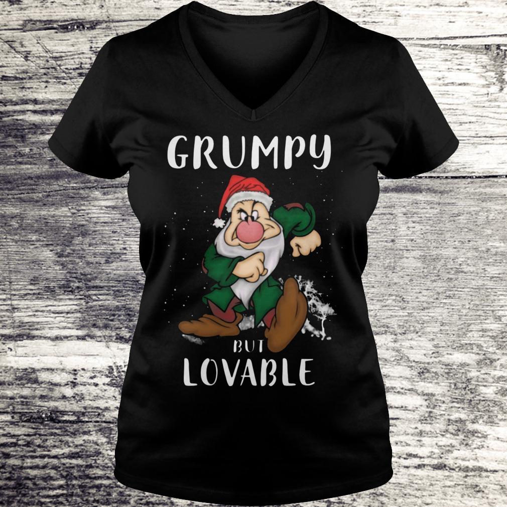Hot Grumpy but lovable Shirt Ladies V-Neck