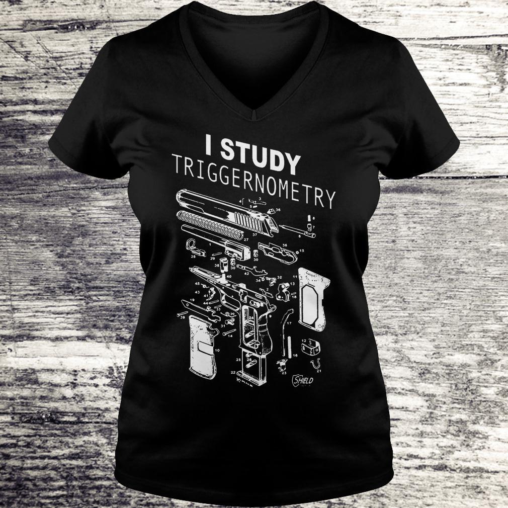 Official I Study Triggernometry shirt Ladies V-Neck