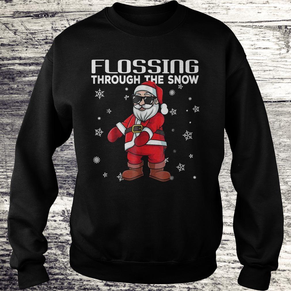 Original Santa Flossing through the snow shirt Sweatshirt Unisex