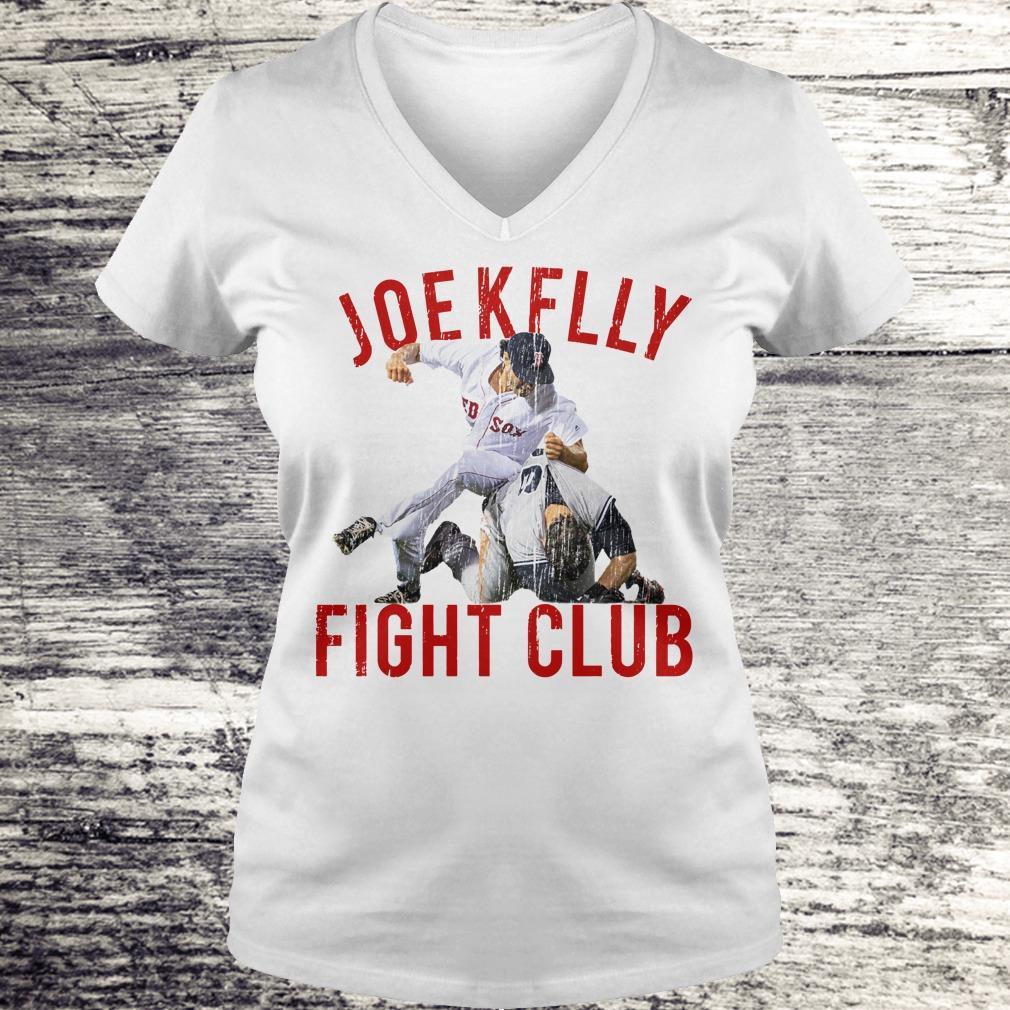 Top Boston Baseball Joe Kelly Fight Club shirt Ladies V-Neck