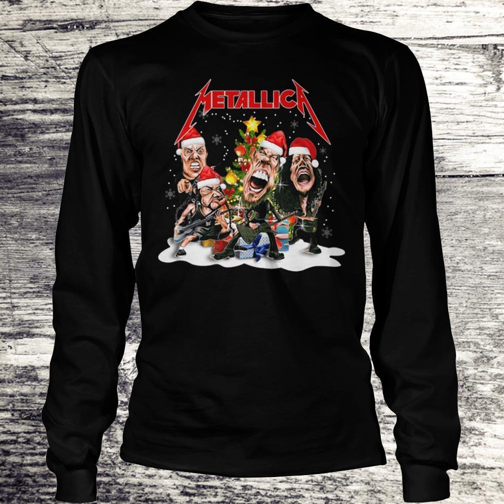 Top Metallica Christmas tree shirt Longsleeve Tee Unisex