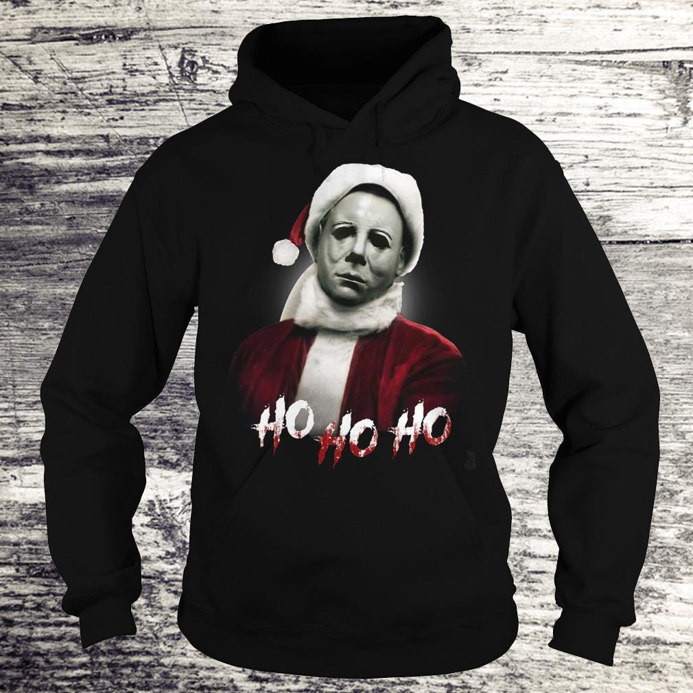 Top Michael Myers Santa Hat shirt Hoodie