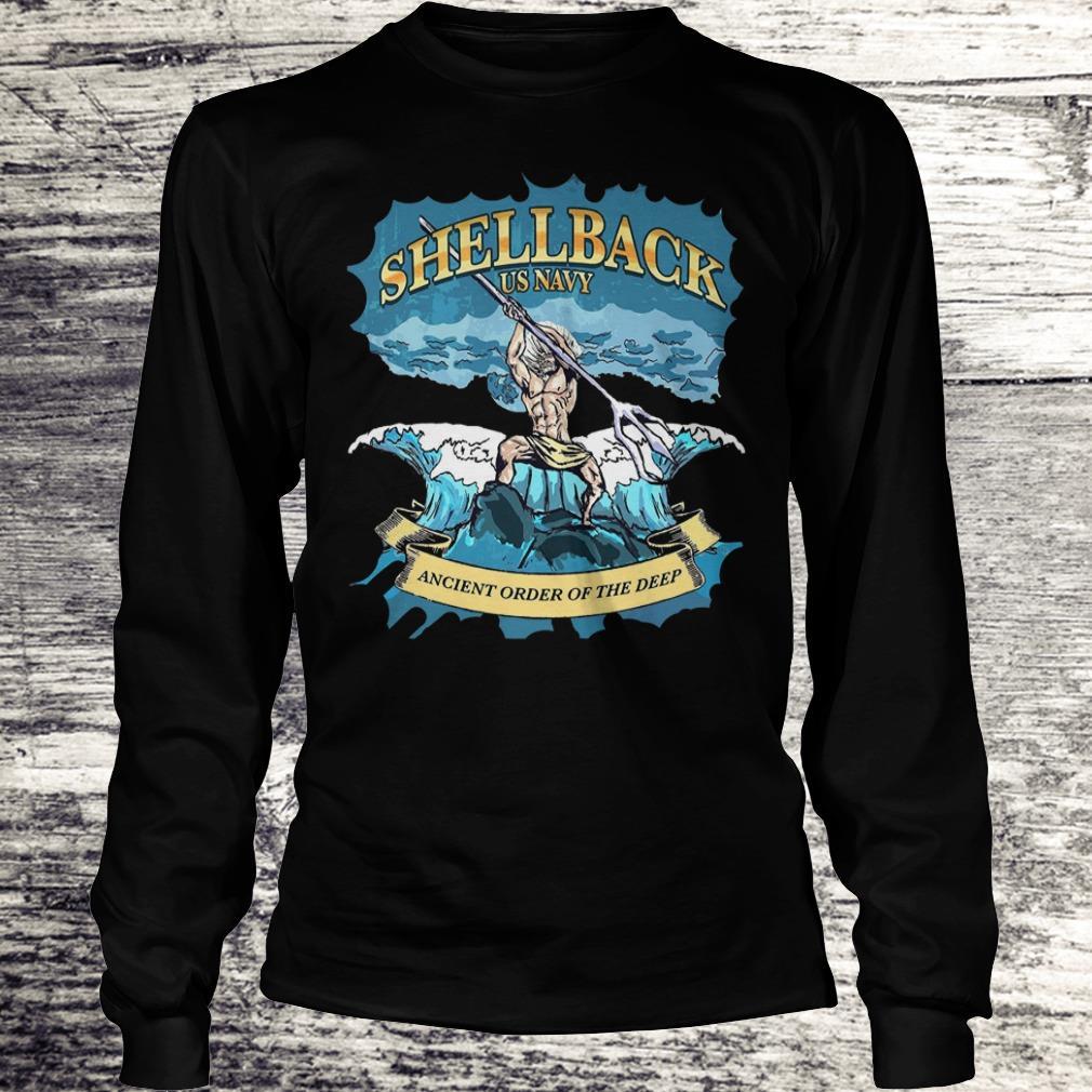 Top Shellback Us Navy Ancient Order Of the deep shirt Longsleeve Tee Unisex