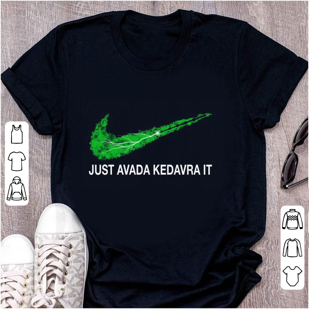 Cute Nike Harry Potter Spell Just Avada Kedavra It shirt