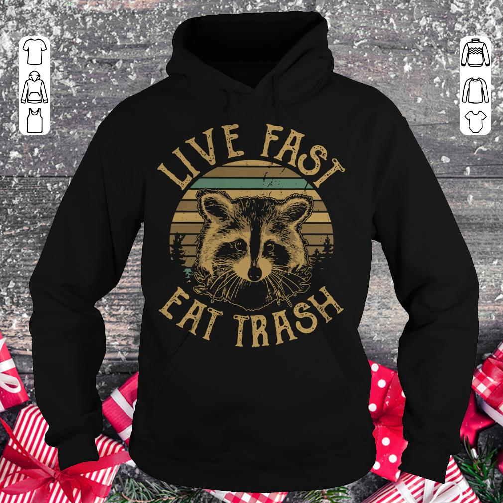 Official Sunset Camping Live fast eat trash Raccoon shirt longsleeve Hoodie