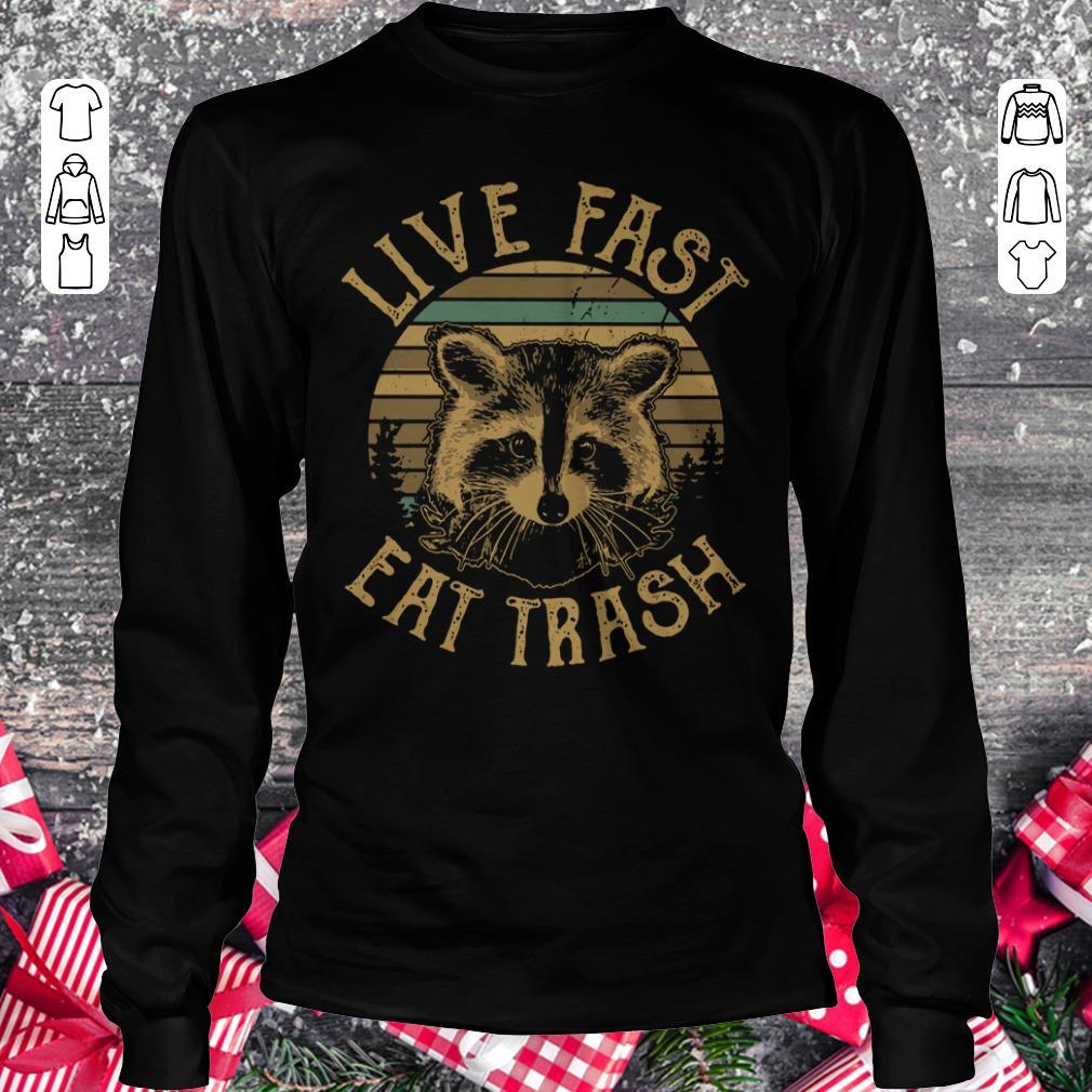 Official Sunset Camping Live fast eat trash Raccoon shirt longsleeve Longsleeve Tee Unisex