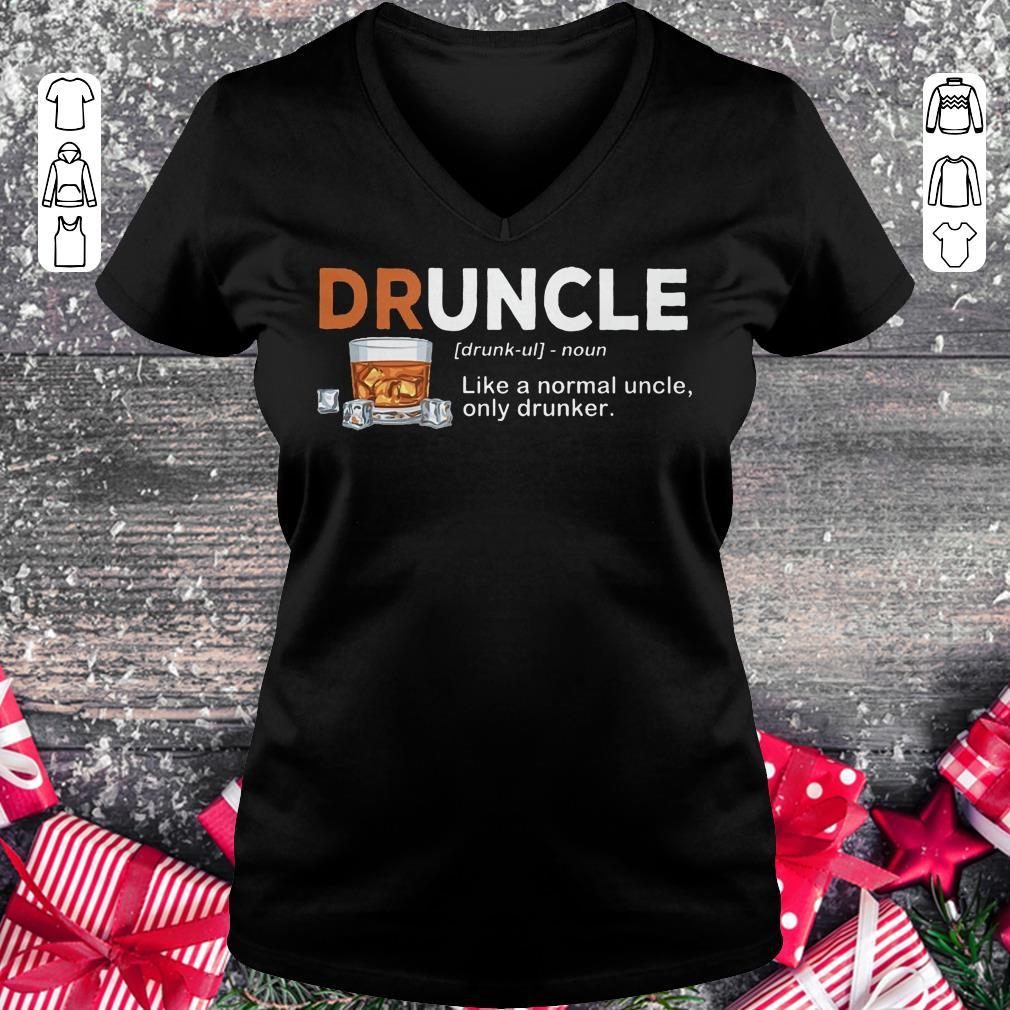 Premium Druncle definition Shirt sweater Ladies V-Neck