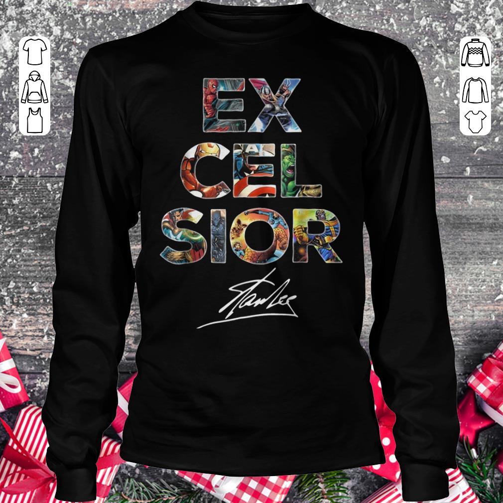 Pretty Excelsior Signature Stan Lee shirt sweatshirt Longsleeve Tee Unisex