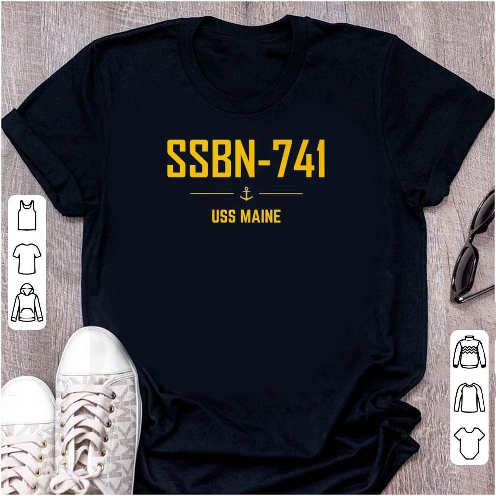 Funny SSBN 741 USS Maine shirt