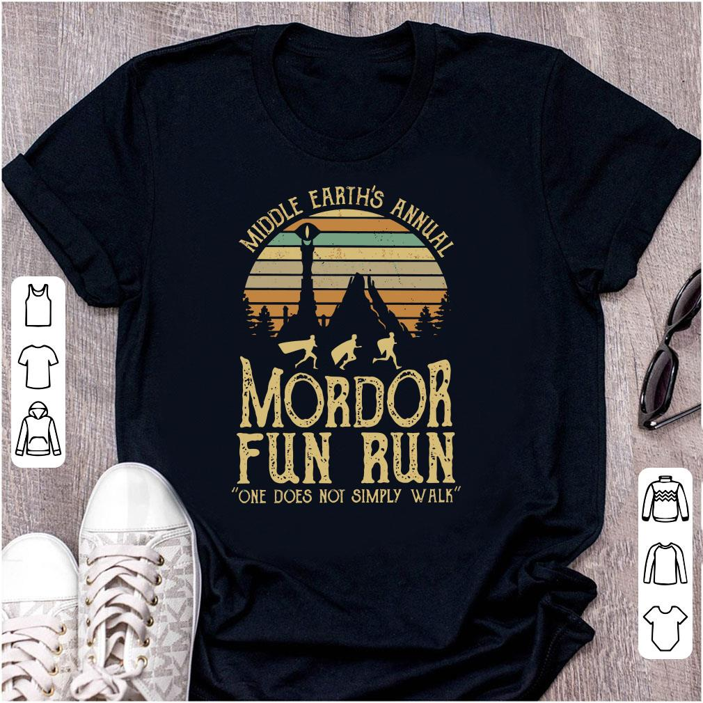 f211c0852 Cute Sunset middle earth's annual mordor fun run one does not simply walk  shirt