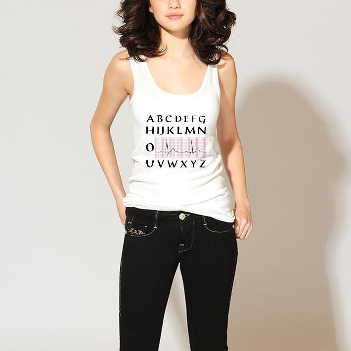 Awesome PQRST nurse alphabet heartbeat shirt