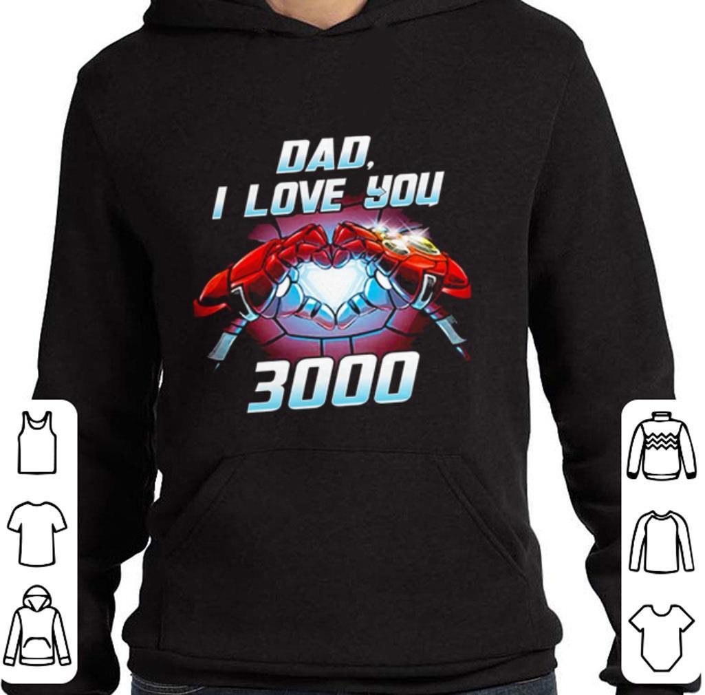 Funny Iron Man dad i love you 3000 Avengers Endgame shirt
