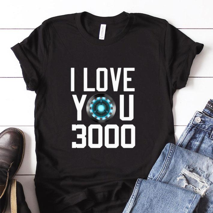 d22a6c01f Premium Heart I Love You 3000 Dad and Daughter Iron Man Arc reactor shirt
