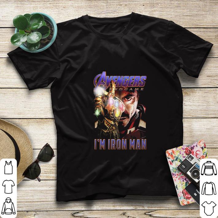 Pretty Avengers Endgame The Snap I'm Iron Man Tony Stark shirt