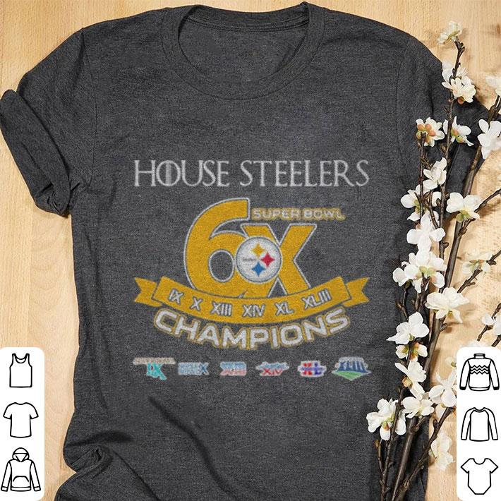 17282aa60 Top Pittsburgh Steelers House Steelers Super Bowl 6x champions Game Of Thrones  shirt