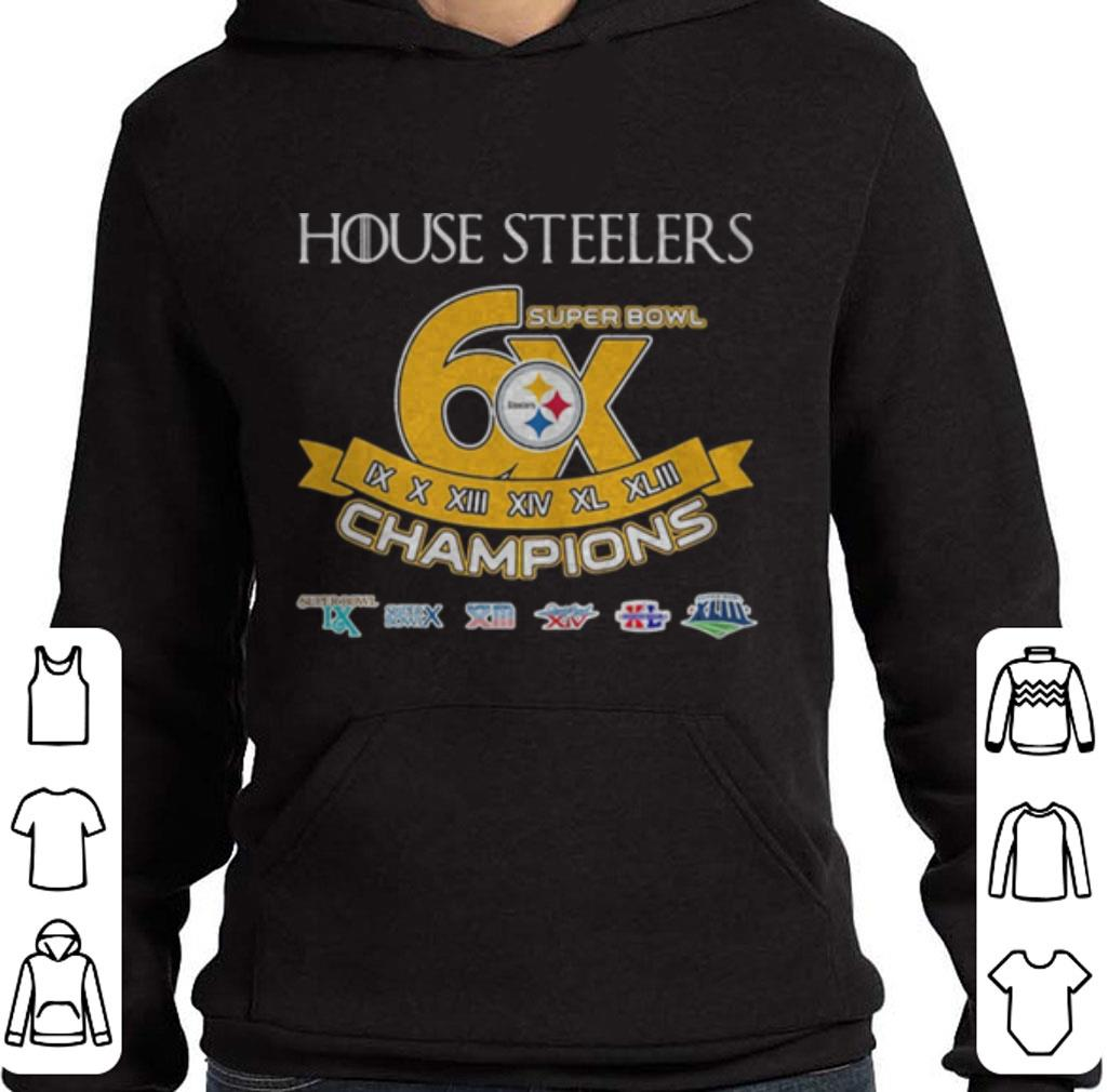 Top Pittsburgh Steelers House Steelers Super Bowl 6x champions Game Of Thrones shirt