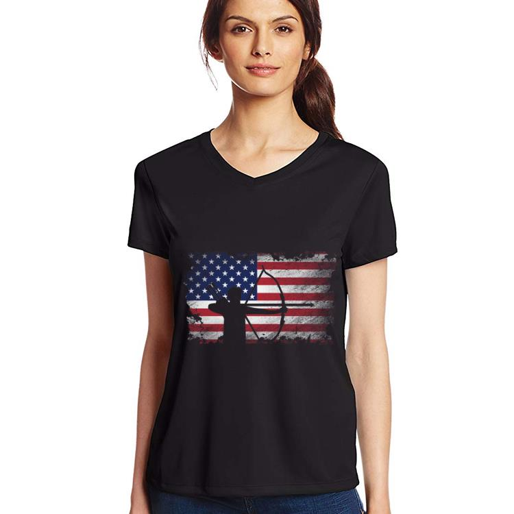 Archery American Flag USA Patriotic Player shirt