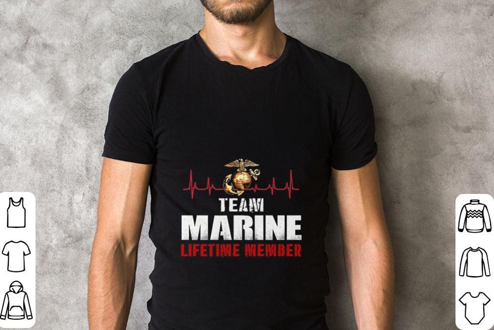 Awesome United States Team Marine Corps lifetime member shirt