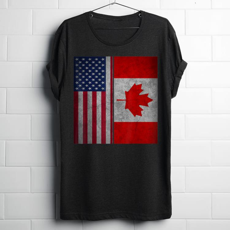 Canadian American Usa Canada Flag 4th Of July shirt