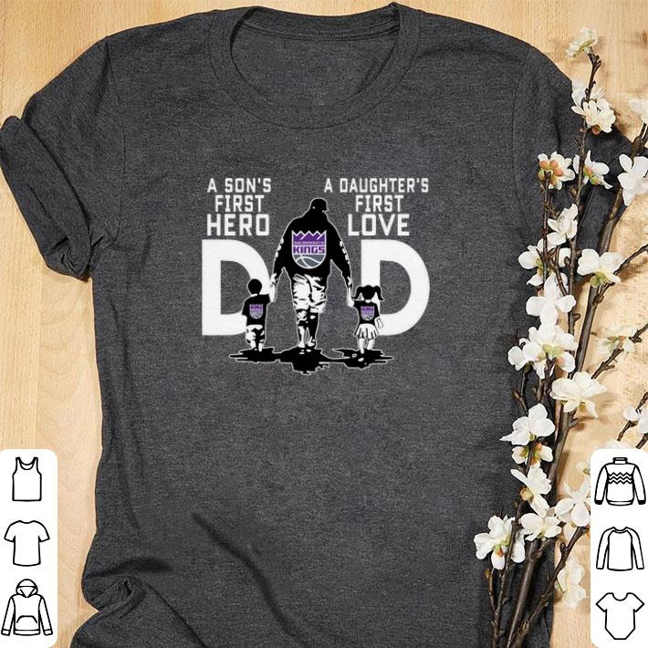 sale retailer 235d3 c0876 Premium Sacramento Kings a Son's first hero a Daughter's first love shirt