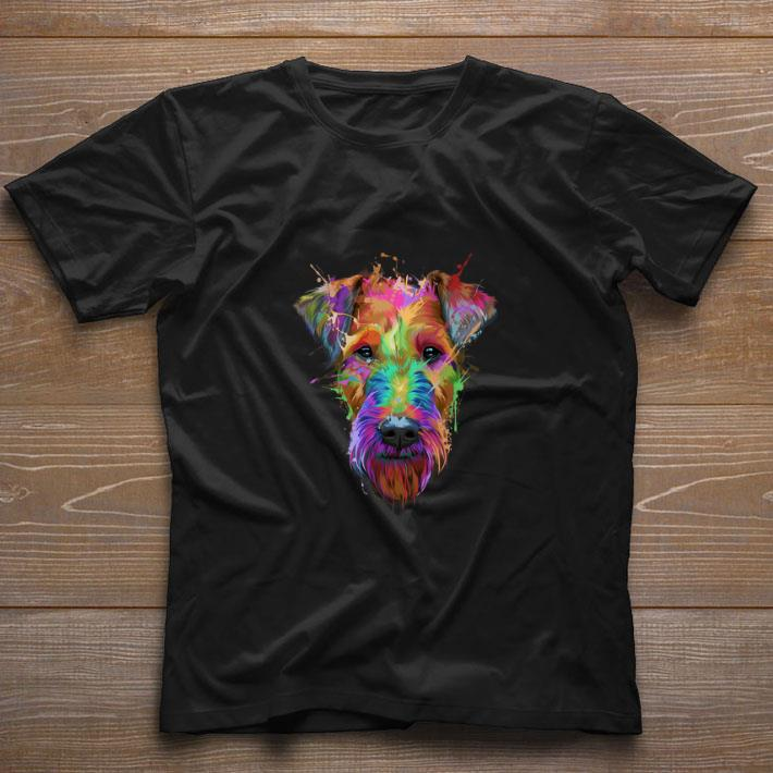 Top Airedale Terrier Colorful shirt