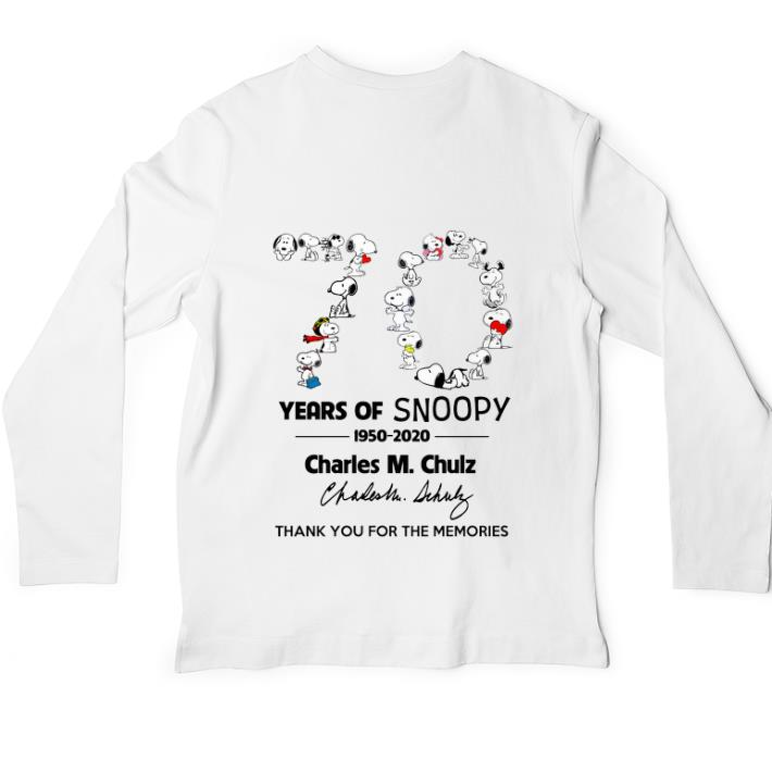 Awesome 70 years of Snoopy 1950-2020 Charles M Schulz signature shirt