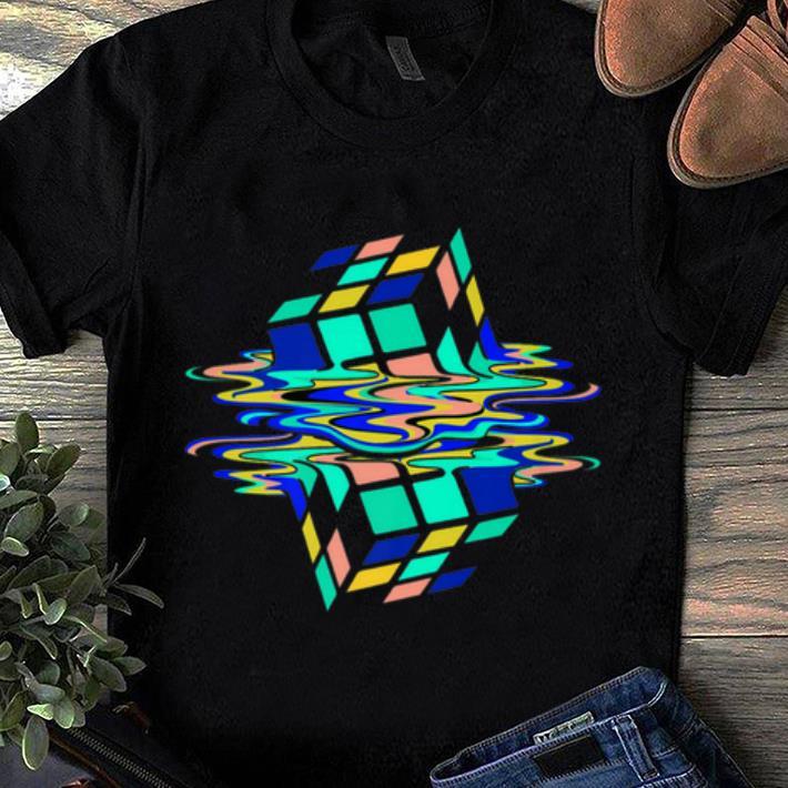 Awesome Neon Melting Rubik Cube Global Warming shirt