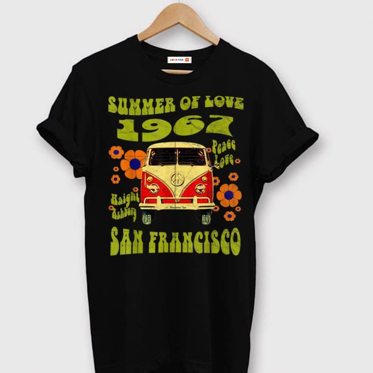 Hot 1967 Summer Of Love San Francisco Haight Ashbury Hippie shirt