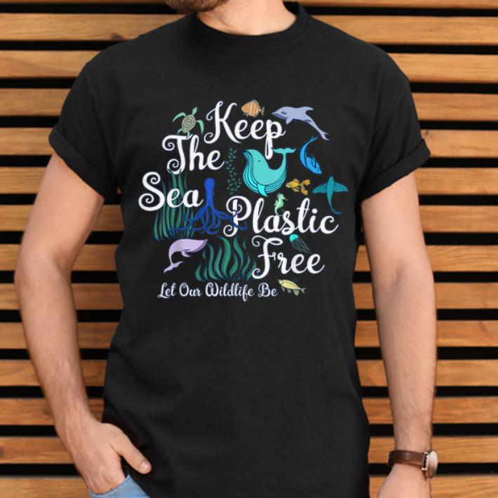 Hot Keep The Sea Plastic Free Let Our Wildlife Be Colorful Whale Turtle Wildlife shirt