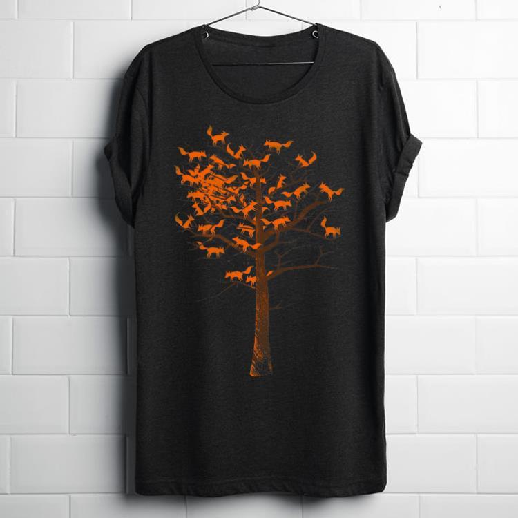 Official Blazing Fox Tree With Fox Leaves shirt