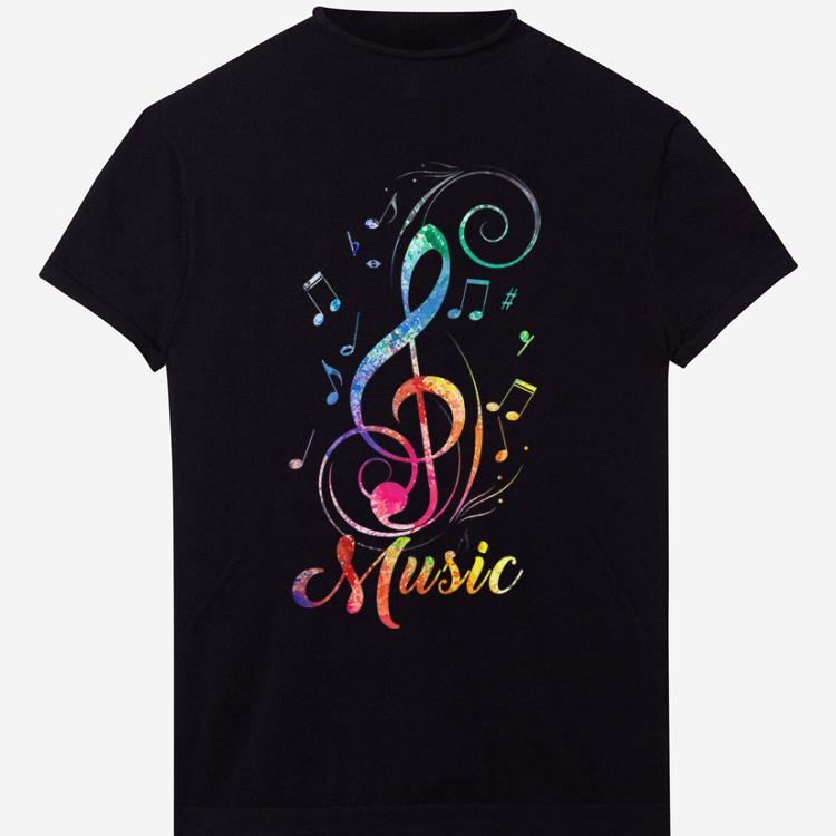 Pretty Funky Colorful Music Sol Key Treble Clef Musical shirt
