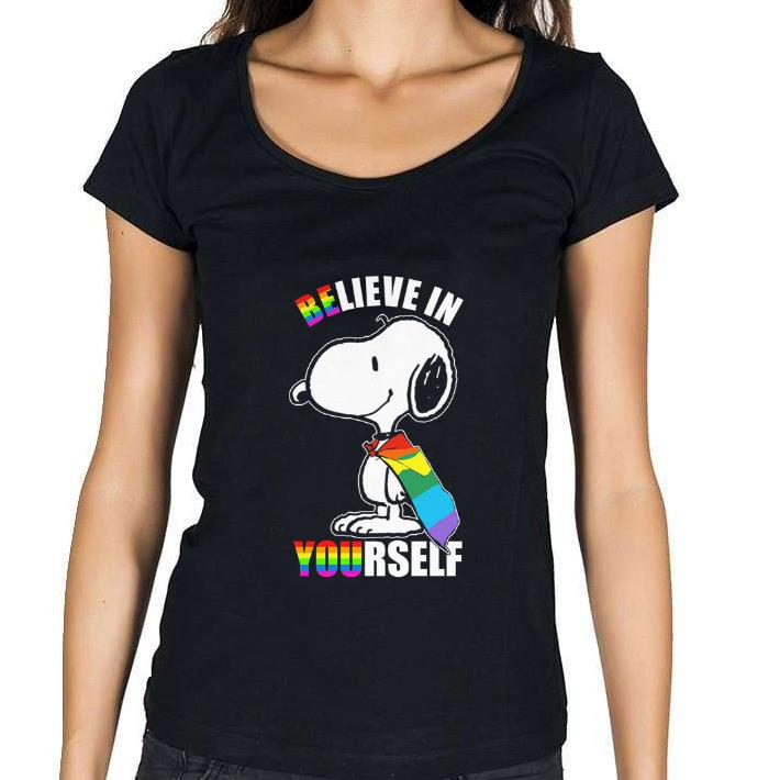 Pretty Snoopy believe in yourself LGBT shirt