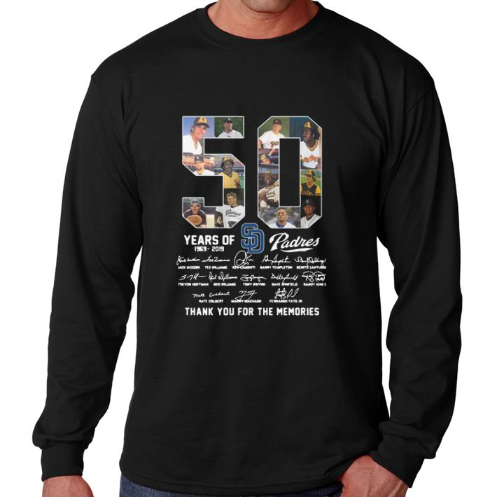 finest selection 9910c a23b3 Top 50 Years Of San Diego Padres 1969-2019 signatures shirt