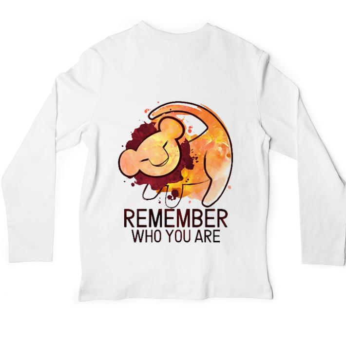 Top The Lion King Remember Who You Are Shirt