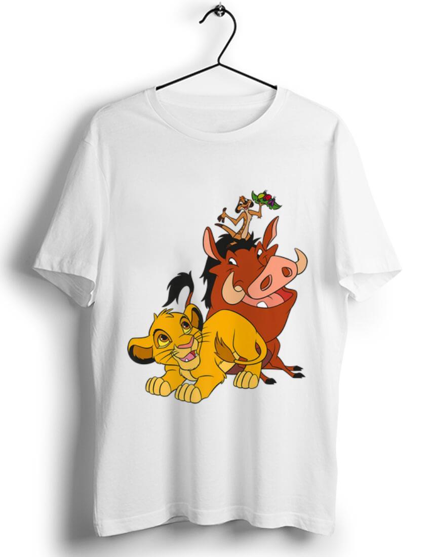 Disney Womens Juniors Yellow Lion King Simba T-Shirt Hoodie Costume Tee Top