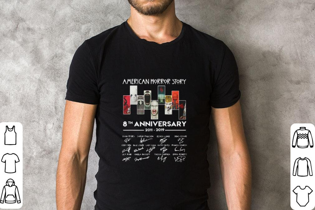 Official American Horror Story 8th anniversary 2011-2019 signatures shirt