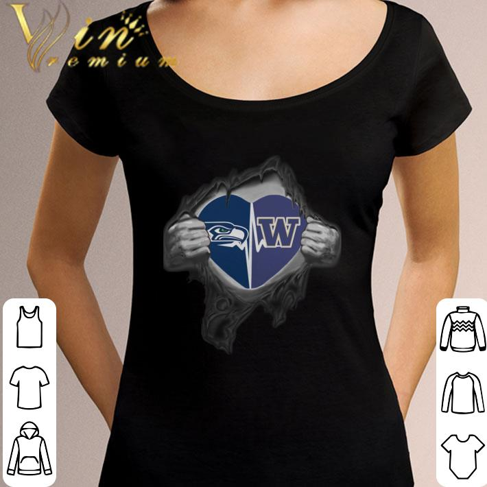95ed92eb Premium Seattle Seahawks Washington Huskies inside my heart shirt