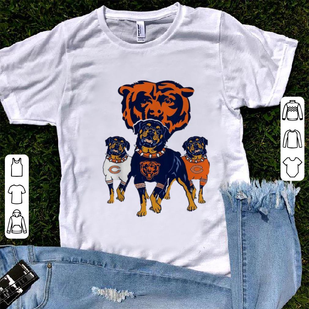 promo code fd714 1a464 Nice Chicago Bears NFL Rottweiler Dog shirt
