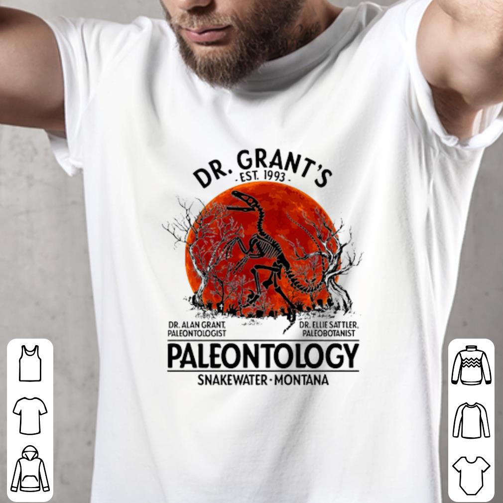 Official Dr. Grant's Est. 1993 Paleontology Snakewater Montana Sunset shirt