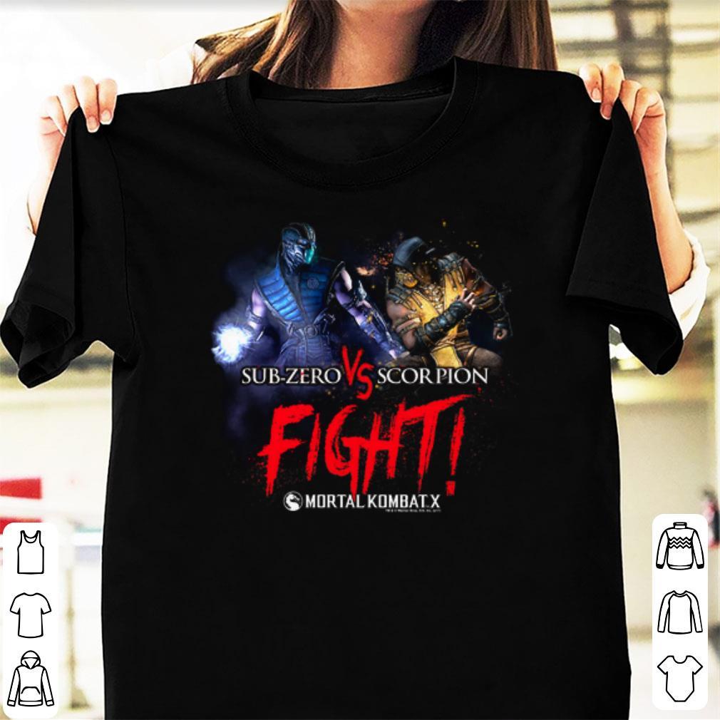 Official Mortal Kombat X Sub Zero Scorpion Fight Shirts Hoodie