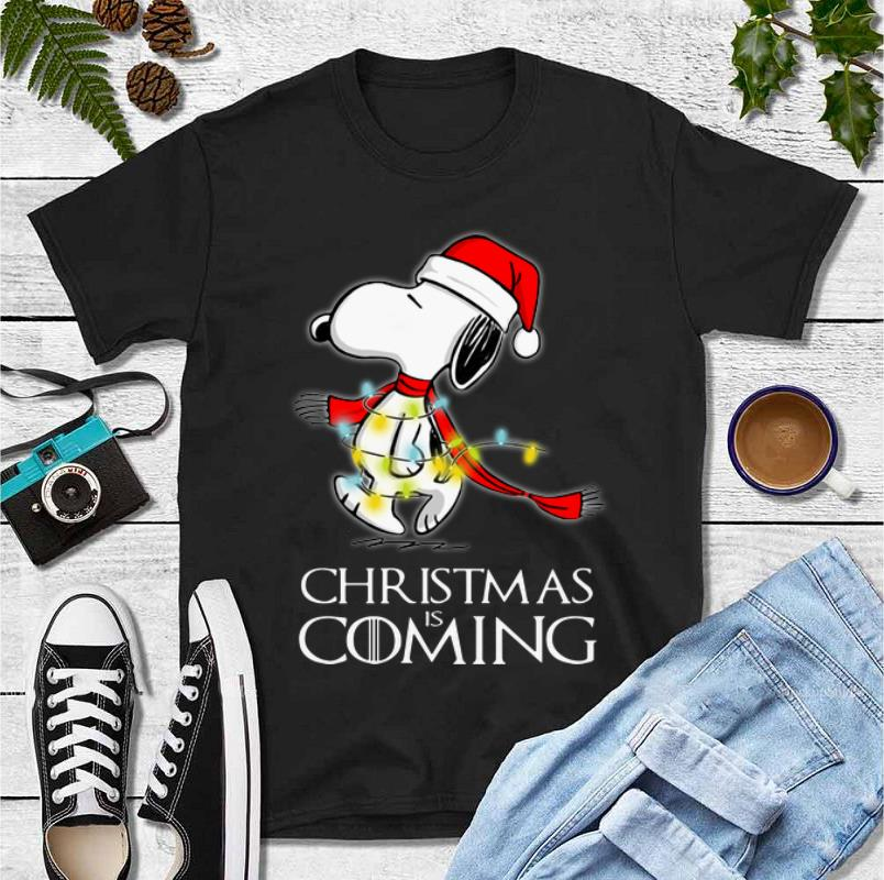 Awesome Christmas Is Coming Snoopy Game Of Thrones shirt